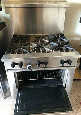 Garland Sunfire Commercial Gas Stove 6-burner with oven 30,000 btu