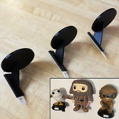 3 Pack of Individual Funko Pop Display Shelves for Figurines Free Shipping Black