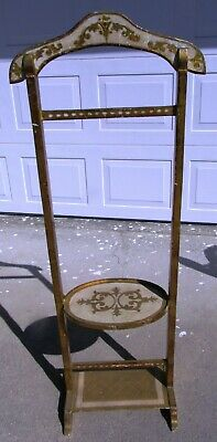 Hollywood Regency Italian Florentine Mid Century Valet Stand Silent Butler Tole