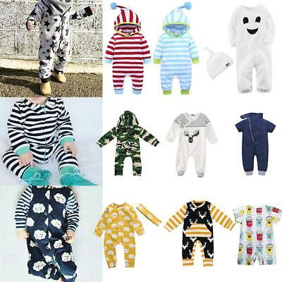 Newborn Infant Baby Girl Boy Kids Romper Jumpsuit Cotton Bodysuit Clothes Outfit