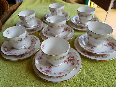 BONE CHINA CUP SAUCER & PLATE SETS----made in England