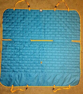 Kurgo Hammock Style Waterproof Dog Seat Cover for Large Cars Blue Grey 55x56