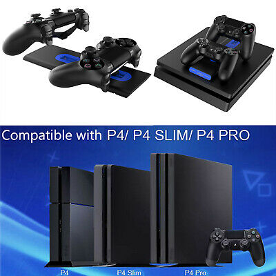 Dual Controllers Charger Dock for Sony PlayStation 4 PS4/PS4 Slim/PS4 Pro 1200mA
