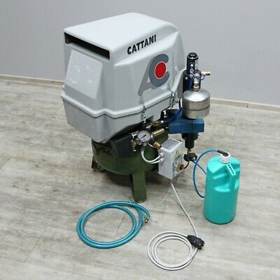 Cattani 2CIL Dental Compressor with Soundproofing Hood & Tumble Drying Plant