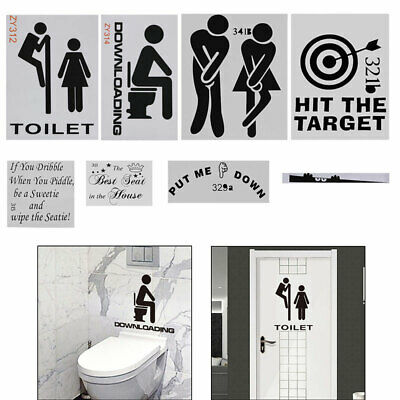 Military Warrior Funny Army Toilet Entrance Sign Decal Vinyl Sticker