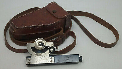 Inclinometer E.R. Watts & Sons Surveyors & Engineers in Leather Case