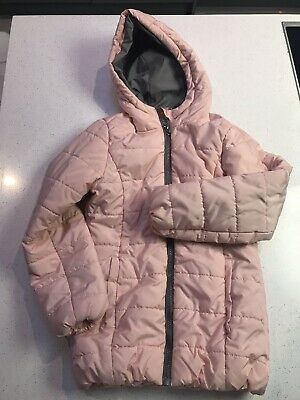 M& Co Girls Blush Pink Coat- Immaculate Age 9-10