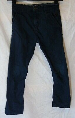 Boys Next Dark Navy Blue Adjustable Smart Chino Cotton Trousers Age 7 Years