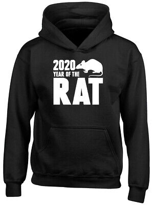 2020 Year of the Rat Chinese New Year Boys Girl Childrens Kids Hooded Top Hoodie