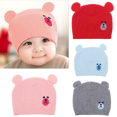 Soft Comfortable Toddler Kids Cartoon Cute Baby Knit Hat Beanie Cap Thick Warm