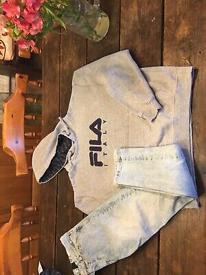 Boys H&m Super Skinny Jeans And Fila Hoodie Age 11-12 Small Bundle
