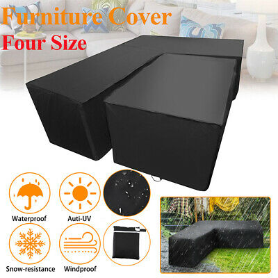 Waterproof Garden Patio Furniture Cover Table L Shape Square Cube Outdoor Covers
