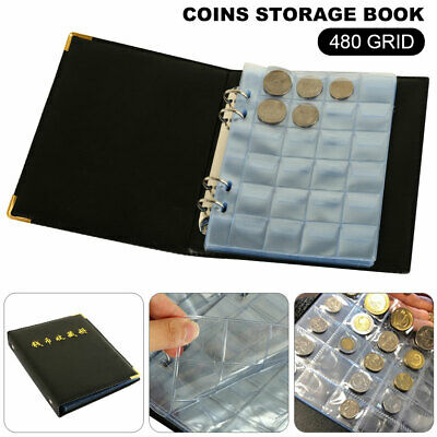 OZ Holder 480 Coins Collection Money Penny Book Collecting Pockets Album Storage