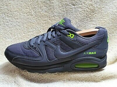 Nike Air Max Command mens Comfort trainers Leather Grey/Green-neon UK 8 EUR 42.5