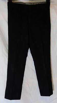 Boys John Rocha Plain Black Formal Suit Smart Pleat Fronted Trousers Age 6 Years