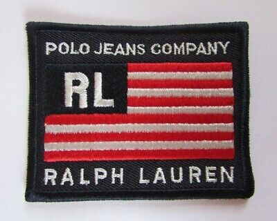 écusson patch Ralph Lauren polo jeans company Made in USA rare et authentique