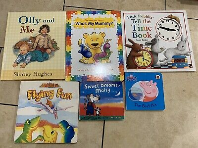 Bundle Of 6 Baby Toddler Books Reading Learning Boys Girls Toys Olly Maisy Peppa