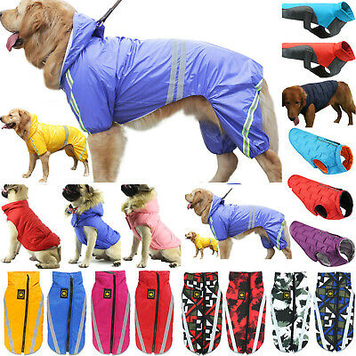 Waterproof Warm Winter Pet Dog Coat Clothes Dog Padded Vest Jacket Large/Medium