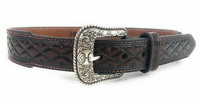 Hooey Western Mens Belt Leather Logo Cutout Tapered Tip Embossed 1787BE4