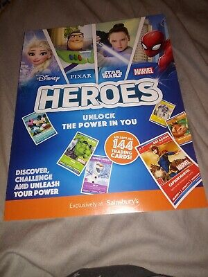 Sainsburys Disney Heroes Album Brand New + full sets of cards
