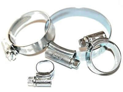 10 x 45mm 60mm JCS Hi-Grip Hose Clips Worm Drive Clamp Rubber Radiator Pipe UK