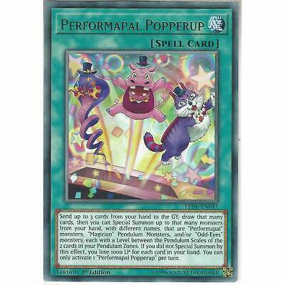 LED6-EN047 Performapal Popperup | 1st Edition Rare YuGiOh Trading Card Game TCG