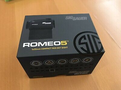 Sig Sauer ROMEO5 1x20mm 2 MOA Red Dot Sight SOR52001 new never used