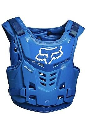 Fox MX Proframe LC Blue Adult Chest Protector/Roost Guard/Deflector ATV L/XL