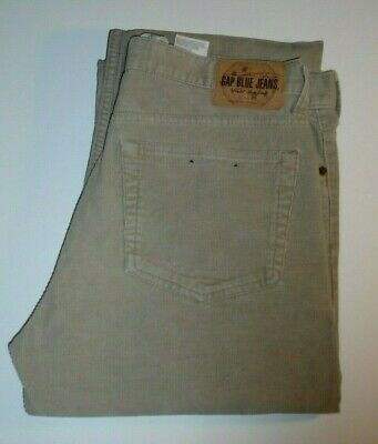 Gap Blue Jeans Corduroy Brown Boot Fit 100% Cotton Denim Jeans W-33/Leg-35