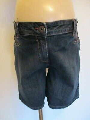 Next Maternity Indigo Blue Denim Under Bump Jeans Shorts Size 14