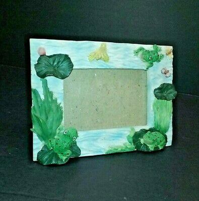 FROG pond picture frame baby nursery art