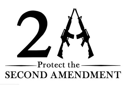 Firearm Die Cut Decal for III 3/% 3 Percenters Window Vinyl 2A Gun Rights FA007