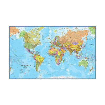 World Map Details Large Poster Wall Decor Home Office Educational P4