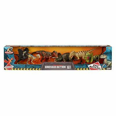Kid Galaxy Dinosaurs Poseable 6 Pack Set