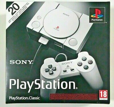Sony PlayStation Classic Mini Console With 20 x PS1 Games Installed