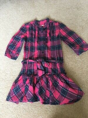 Girls M&S Pink Blue Purple Top Age 7 good with Jeans Leggings