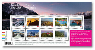 2020 Canada From Far and Wide Souvenir Sheet Of 9 Unique Stamps