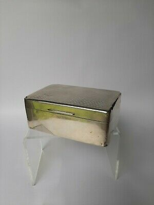 Large Antique Sterling Silver Jewellery Box
