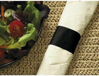 [2500 Count] Hoffmaster 883091 Black Paper Napkin Band, 1.5 in x 4.25 in