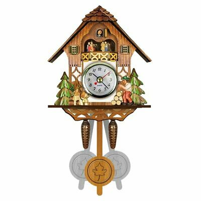 Wall Clock Antique Wooden Cuckoo Bird Time Bell Swing Alarm Watch Home Decors