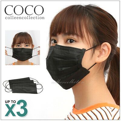 3x Active Carbon Filter Disposable Protective Mouth Face Ear Loop Safe