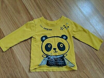 Baby Boy Long Sleeved George Panda Top Age 6-9 Months