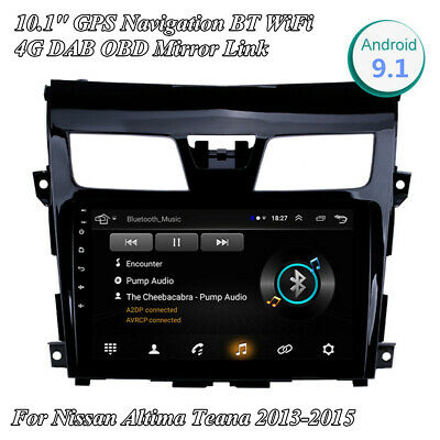 10.1'' Android 9.1 Stereo Radio GPS Navigation For Nissan Altima Teana w/ Canbus