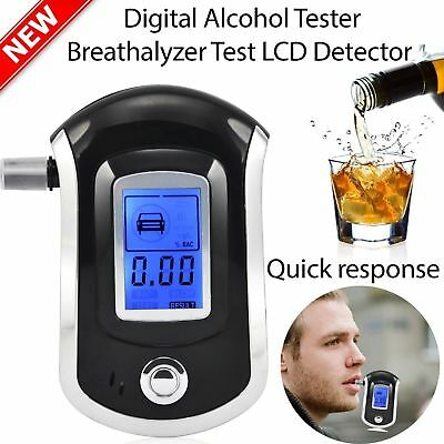 LCD Police Digital Breath Alcohol Analyzer Tester Breathalyzer Audiable 5V