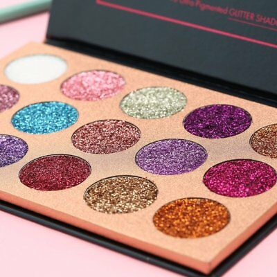 BEAUTY GLAZED Eyeshadow Palette 15 Ultra Pigmented Pressed Glitter Shadows HT