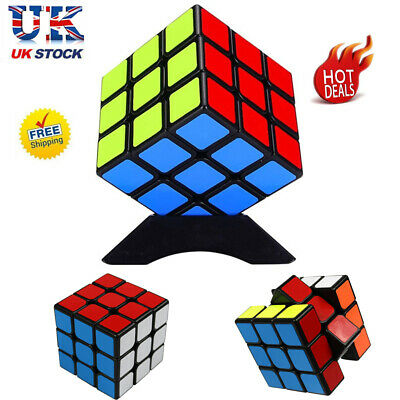 Kids Rubiks Cube Fun Toy Rubic Magic Mind Game Classic Rubix Puzzle Gift 3x3 UK