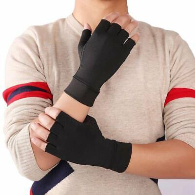 Copper Compression Gloves Fit Arthritis Carpal Tunnel Hand Support Pain Relief ~