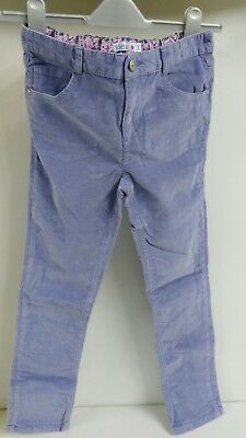 Girls Trendy Blue traight skinny corduroy Jeans M&Co Kids 9/10 Years FREE P&P