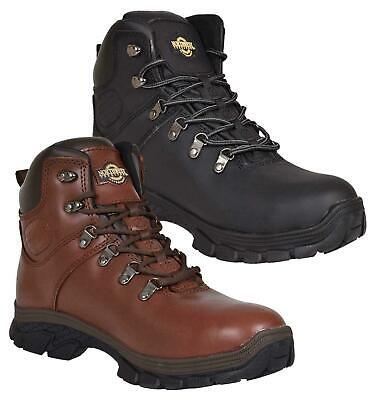 NORTHWEST Mens Waterproof Hiking Ankle Boots Leather Trail Walking UK Size 7-12