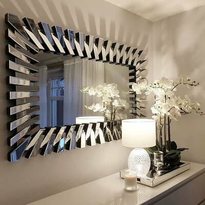 Large Modern Multi Facet Design Venetian Mirror 2ft8 X 4ft 81cm X 120cm 165 29 Picclick Uk